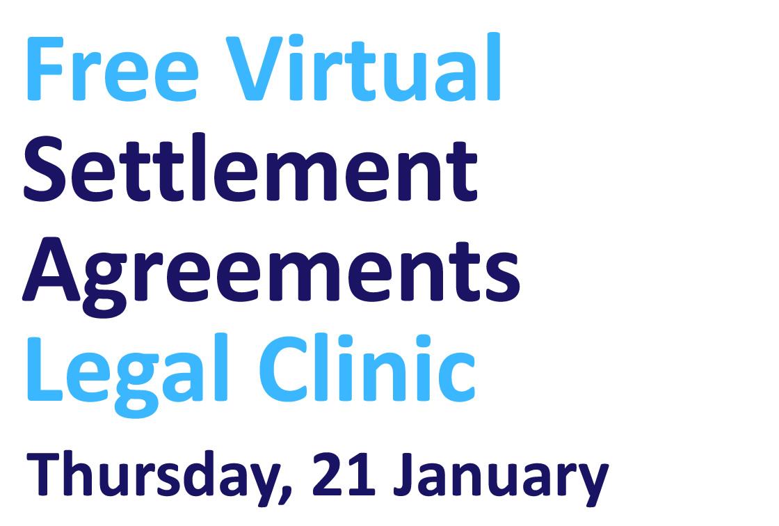 Free virtual settlement agreements clinic