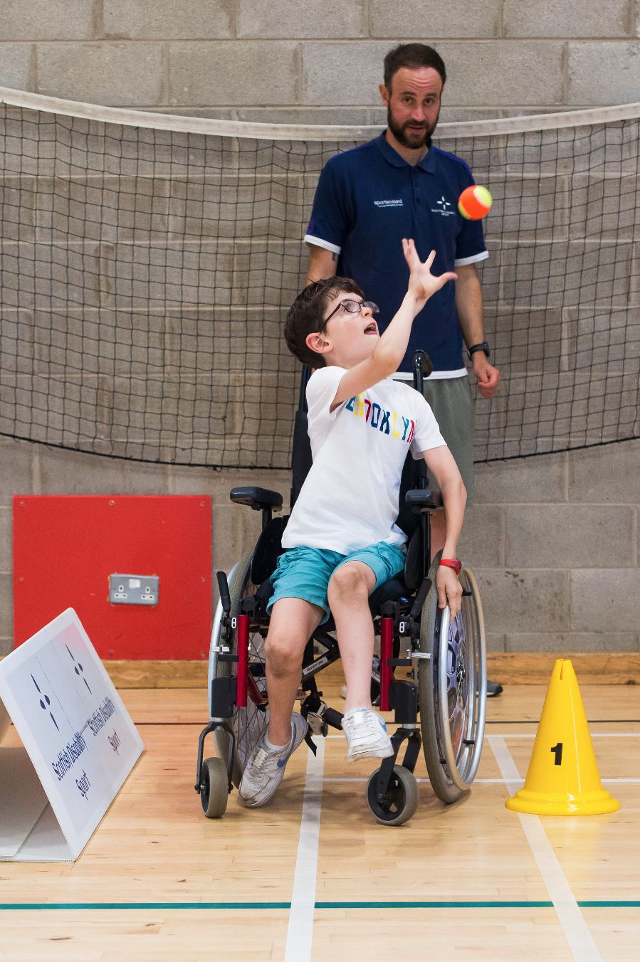 Young disabled athlete