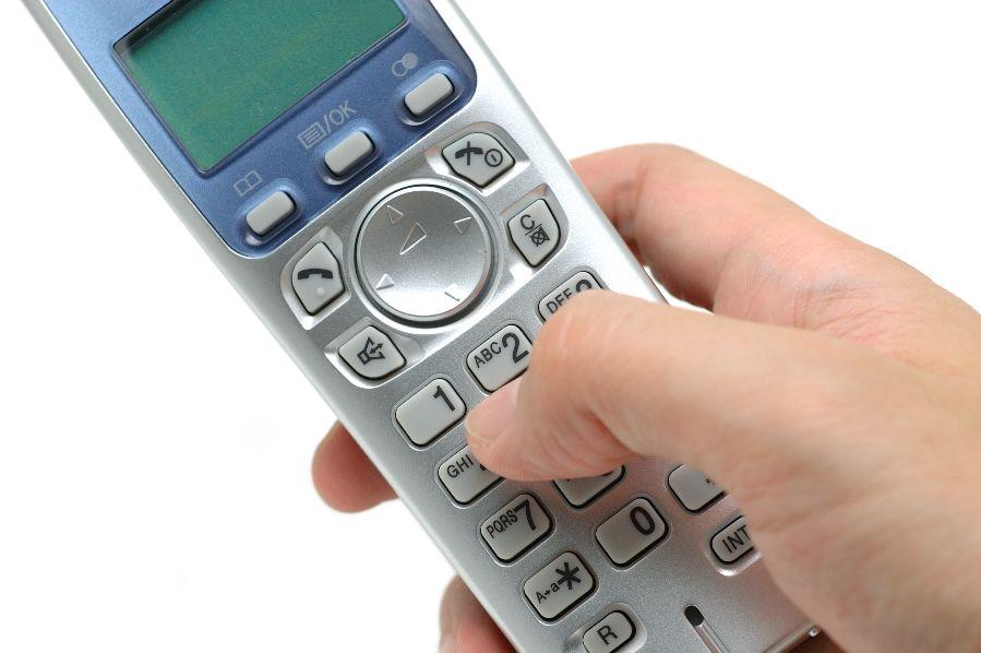 A cordless phone