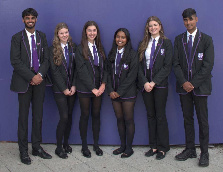 Pupils from Holyrood High School Edinburgh
