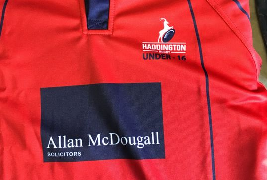 Rugby youth team sponsorship