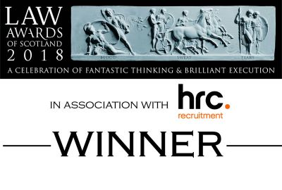 Winner, Litigation Team of the Year, Law Awards of Scotland 2018